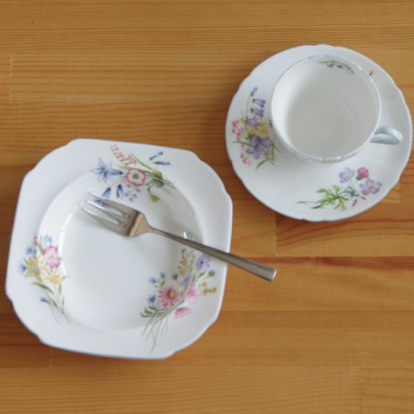 アンティーク食器 SHELLEY シェリー ワイルドフラワーズ スーププレート 深皿 17cm #190705-1~6|flohmarkt|08