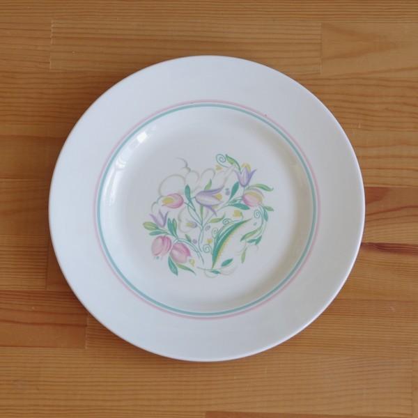 アンティーク 食器 陶器 スージークーパー ドレスデンスプレー デザートプレート 23cm ケーキ皿 #191010-7|flohmarkt