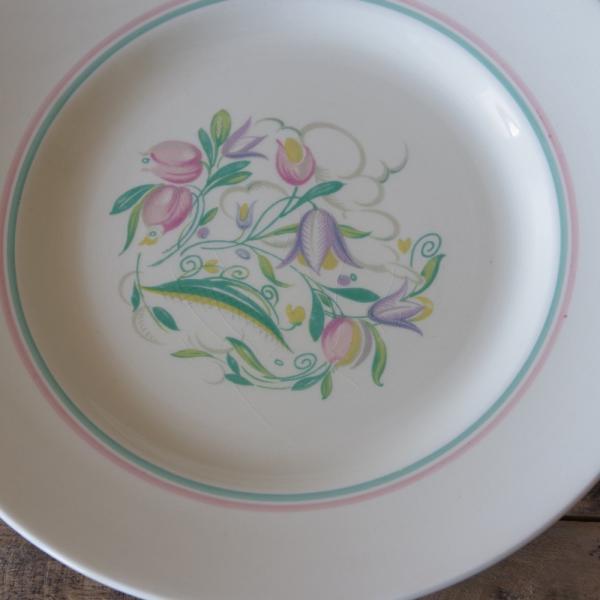 アンティーク 食器 陶器 スージークーパー ドレスデンスプレー デザートプレート 23cm ケーキ皿 #191010-7|flohmarkt|03
