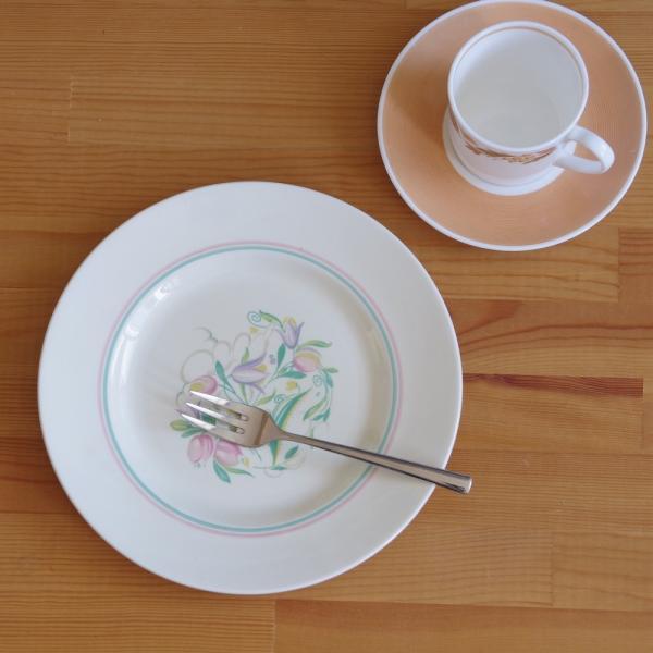 アンティーク 食器 陶器 スージークーパー ドレスデンスプレー デザートプレート 23cm ケーキ皿 #191010-7|flohmarkt|06