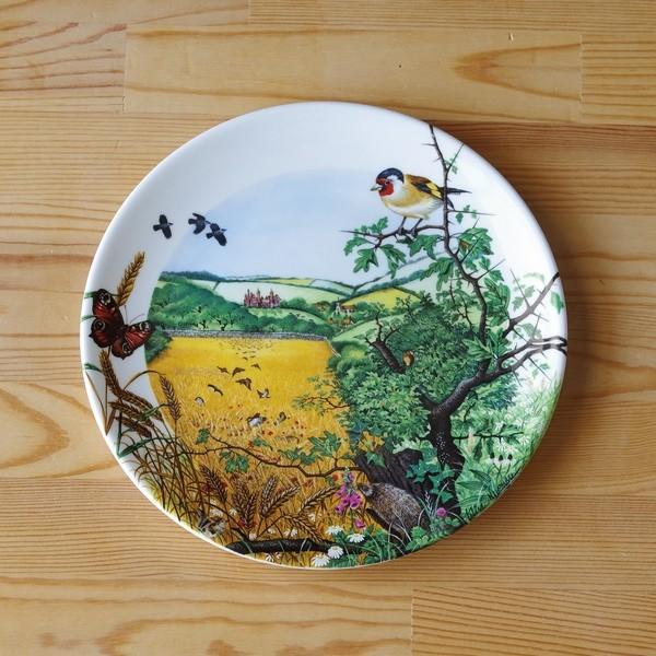 ウェッジウッド Wedgwood 飾り皿 Colin Newman 1987年 限定品 The Village in the Valley プレート|flohmarkt