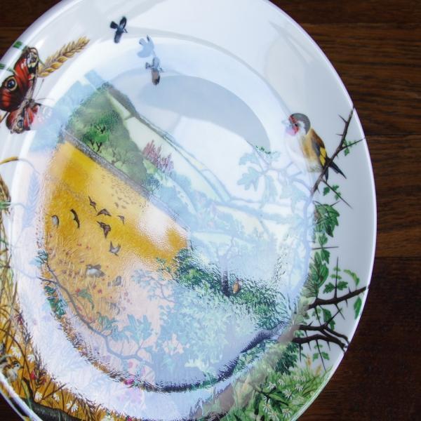 ウェッジウッド Wedgwood 飾り皿 Colin Newman 1987年 限定品 The Village in the Valley プレート|flohmarkt|03