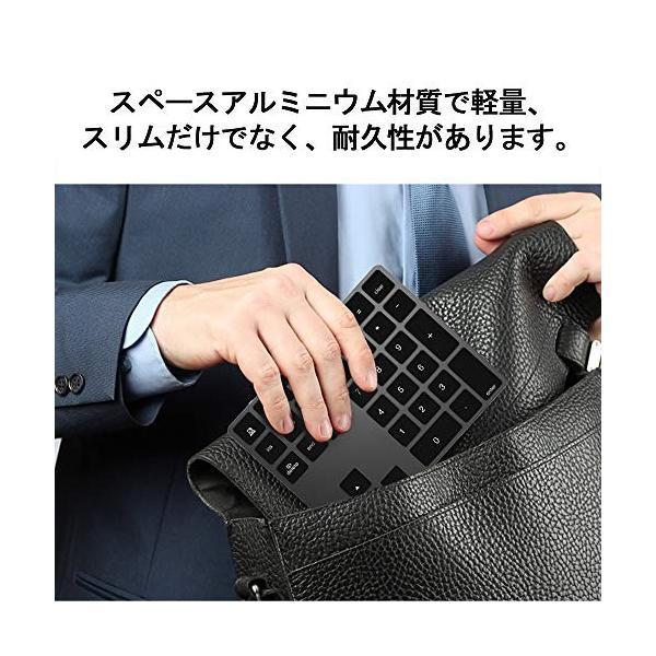 ワイヤレス テンキー キーボード Macbook android Windows ノートパソコンに適応 Bluetooth キーボード (シルバー)|flow1|04