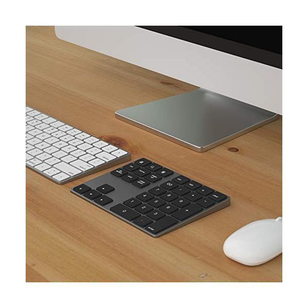 ワイヤレス テンキー キーボード Macbook android Windows ノートパソコンに適応 Bluetooth キーボード (シルバー)|flow1|06