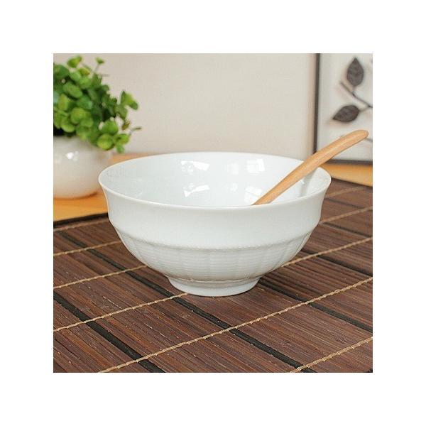 白い網かご模様 カフェオレボウル (洋食器 白い食器 スープ ご飯茶碗 アウトレット 日本製)