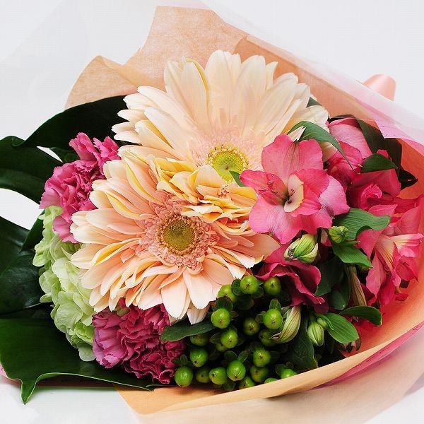 花 ギフト 巨大輪ガーベラの入ったスペシャルブーケ 花 贈り物 プレゼント|flower|02
