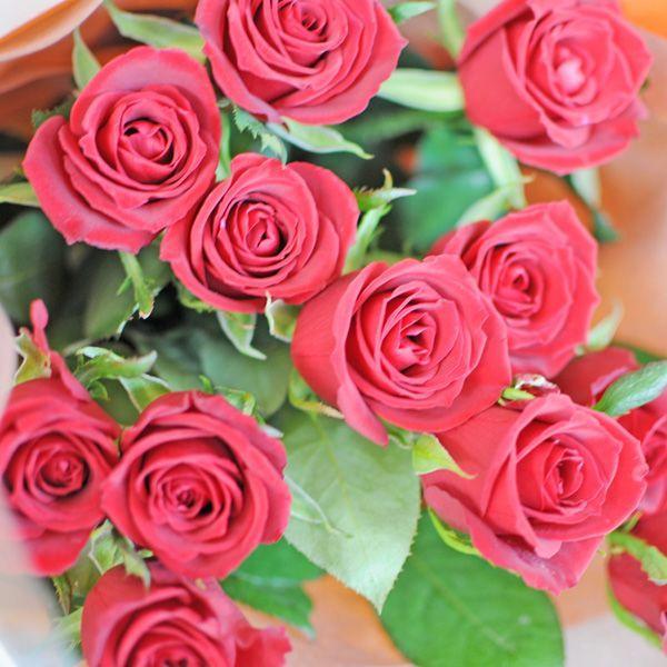 バラ 花束 赤 薔薇 赤いバラの花束 赤バラ 誕生日花束 ギフト 年の数 10本以上からの注文受付です|flower|03