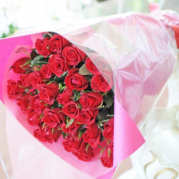 バラ 花束 赤 薔薇 赤いバラの花束 本数指定 赤バラ 誕生日花束 ギフト 年の数 10本以上からの注文受付です|flower|04