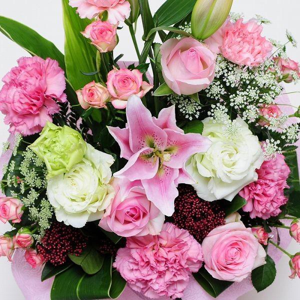 誕生日ギフト 赤いバラ  生花 ローズピンク アレンジメント ホワイトデー 母の日2019 送料無料|flower|02