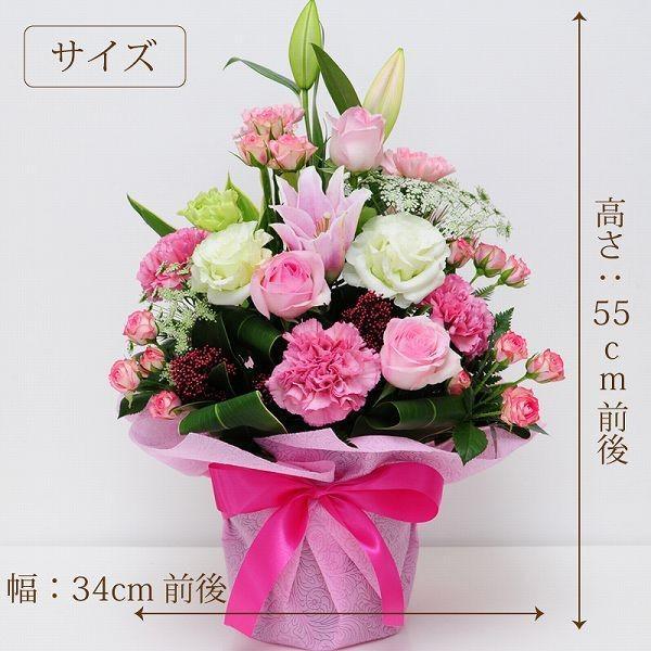 誕生日ギフト 赤いバラ  生花 ローズピンク アレンジメント ホワイトデー 母の日2019 送料無料|flower|03