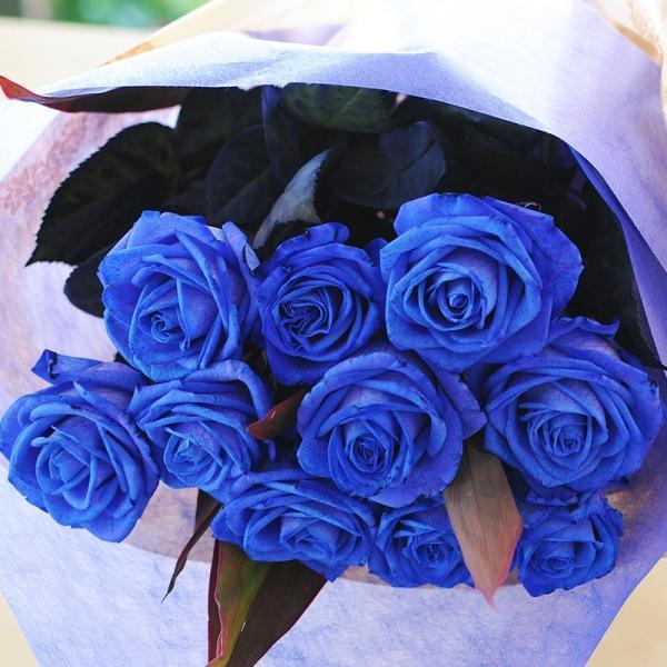 バラ 花束 青 薔薇 青いバラ 本数指定 誕生日 年の数 花ギフト ブルーローズ プレゼント 5本以上からの注文受付です|flower|04
