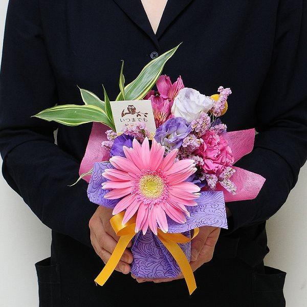 花 ギフト プレゼント 数量限定 花束 ブーケ そのまま飾れるブーケ プチスイーツセット flower 03