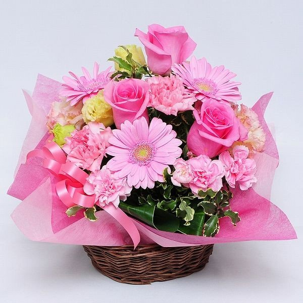 お花のギフト誕生日の花 アレンジメント オンリーピンク Mサイズ お祝い 花 おしゃれ お花のギフト 翌日配達|flower|02