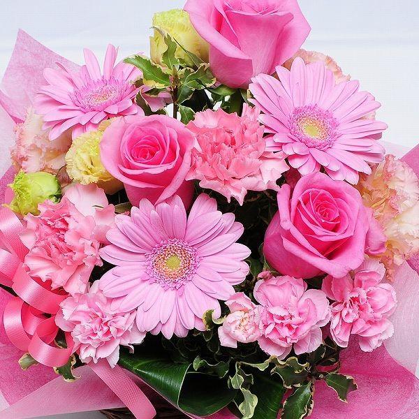 お花のギフト誕生日の花 アレンジメント オンリーピンク Mサイズ お祝い 花 おしゃれ お花のギフト 翌日配達|flower|03