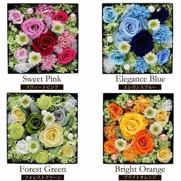 枯れない花 ギフト  オリジナル プリザーブドフラワー ボックスアレンジメント 誕生日 記念日 贈り物 花 枯れ ない flower 02