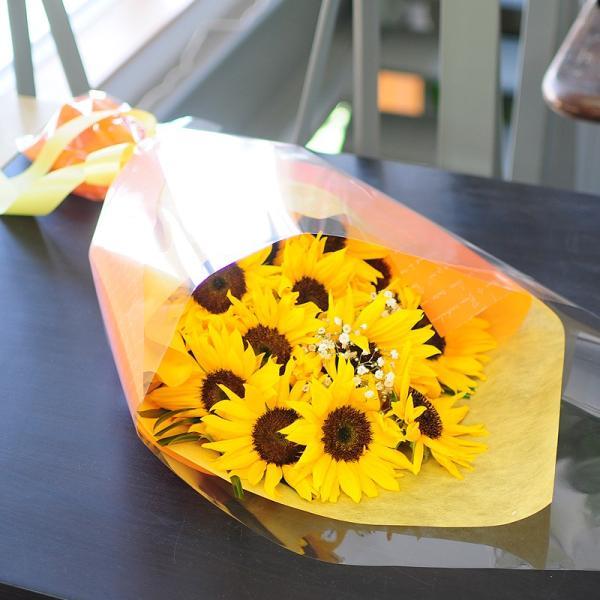 オレンジイエローの花 ギフト ひまわりの花束  ヒマワリ 向日葵 Lサイズ ギフト flower 05