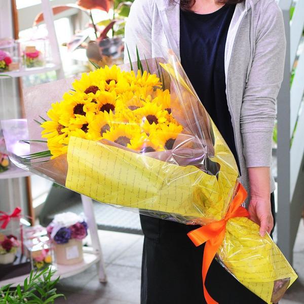 花 ギフト ひまわりの花束 ヒマワリ 向日葵 3Lサイズ|flower|04