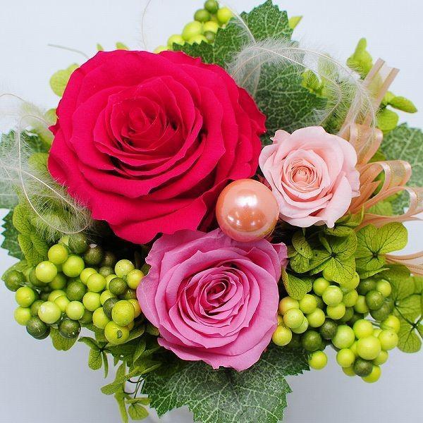 誕生日 お祝い 花 プリザーブドフラワー  フルールミニョン スイーツセット  クリアケース  プレゼント|flower|02