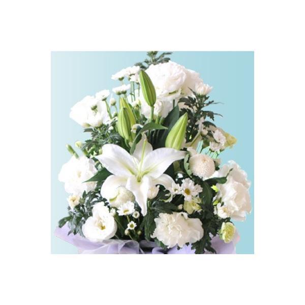 お彼岸 花 お供え ユリの お供え お悔やみ アレンジメント 3Lサイズ ユリ 百合|flower|02
