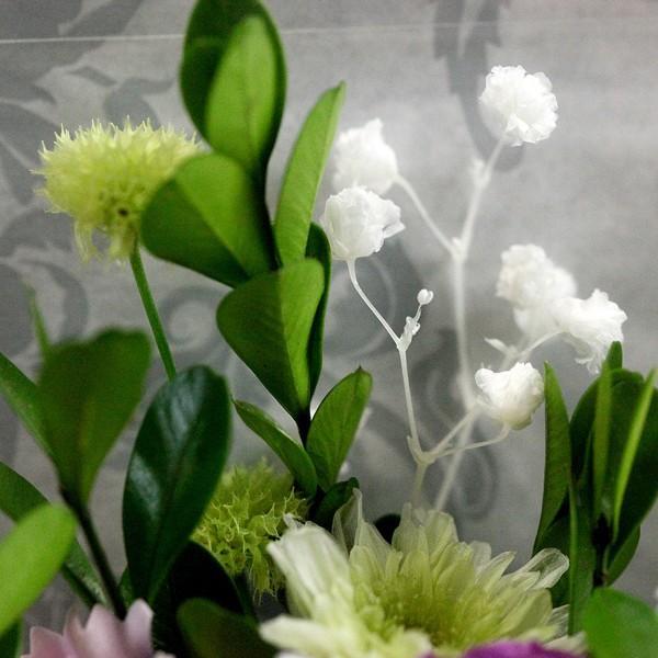 お線香セット 紫メインツイン仏花(BS-001)|flowerdirl|04