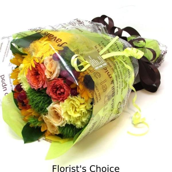 花束 送料無料 ラウンドブーケ 季節のお花たっぷり花束、お誕生日、ギフト、発表会、プレゼント、宅配|flowerexpress-com|03
