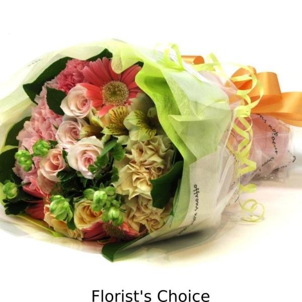 花束 送料無料 ラウンドブーケ 季節のお花たっぷり花束、お誕生日、ギフト、発表会、プレゼント、宅配|flowerexpress-com|04