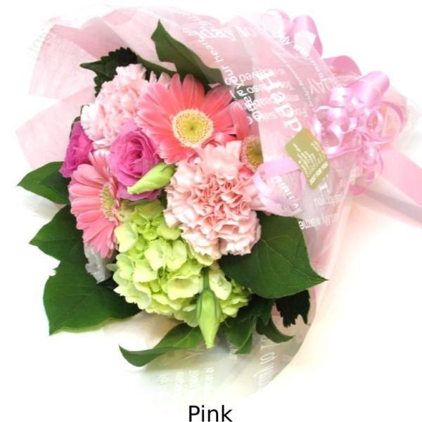 花束 送料無料 ラウンドブーケ 季節のお花たっぷり花束、お誕生日、ギフト、発表会、プレゼント、宅配|flowerexpress-com|05