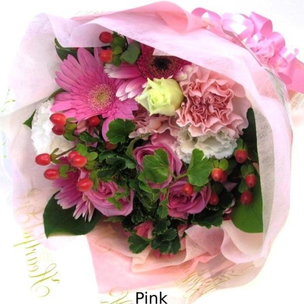 花束 送料無料 ラウンドブーケ 季節のお花たっぷり花束、お誕生日、ギフト、発表会、プレゼント、宅配|flowerexpress-com|07