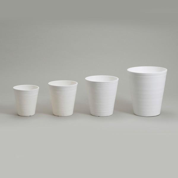 明和フラワーポット セラアートシリーズ 長鉢7寸 ホワイト 1個|flowernana|02