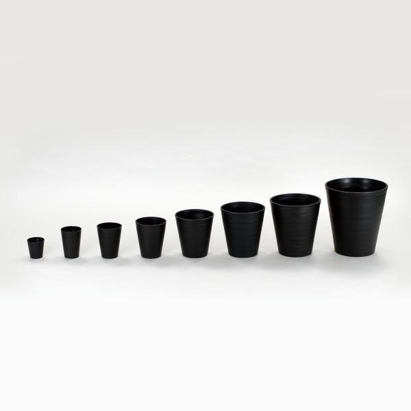 明和フラワーポット セラアートシリーズ 長鉢 尺鉢 ブラック 1個|flowernana|02