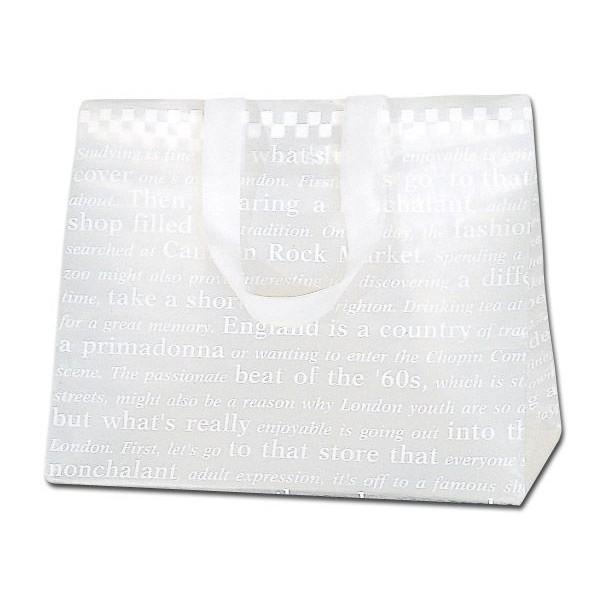 HEIKO HDポリチャームバッグ チェッカー Wタイプ M アレンジ袋 1枚 ポリ袋 flowernana