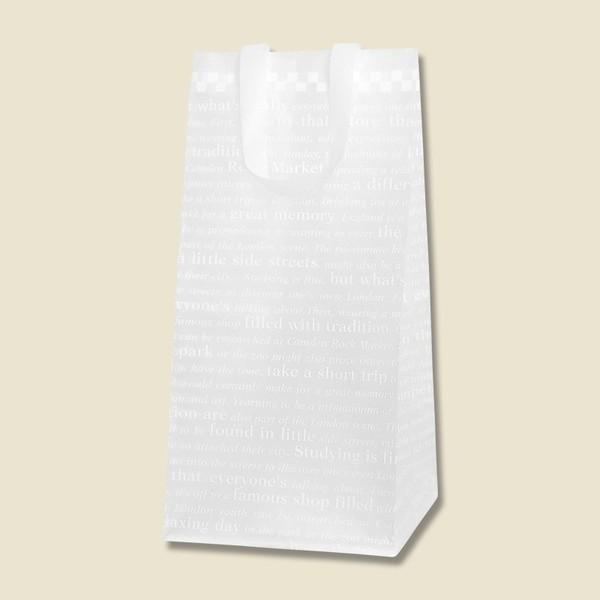 HEIKO HDポリチャームバッグ チェッカー Wタイプ ロングM アレンジ袋 20枚入 ポリ袋|flowernana