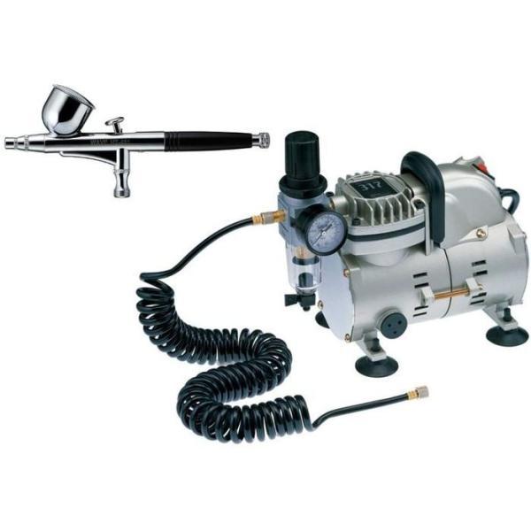 エアコンプレッサー コンプレッサー317 エアブラシ付 セット WAVE ウェーブ LT24
