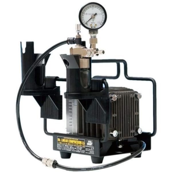 エアコンプレッサー Mr.リニアコンプレッサー L5/圧力計付レギュレーターセット GSIクレオス PS313