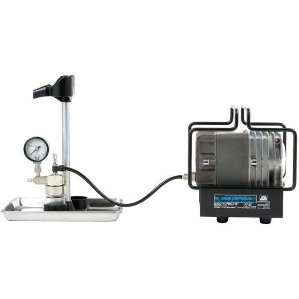 エアコンプレッサー Mr.リニアコンプレッサー L7/圧力計付レギュレーターセット GSIクレオス PS307