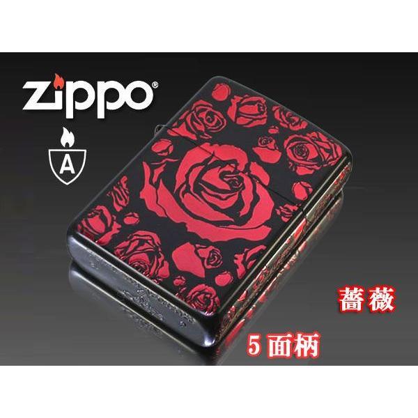 zippo ジッポー ライター アーマー ブラックマットイオンローズA バラ薔薇 赤|fnetscom