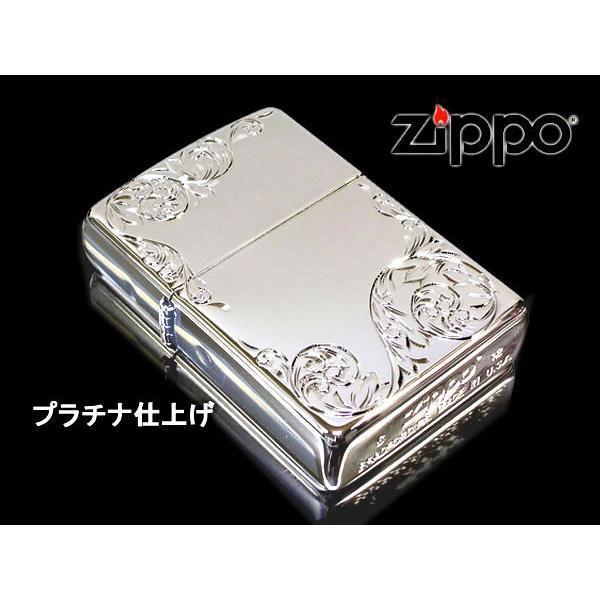 zippo ジッポー ライター レギュラー 手彫り H.C ArabesqueA PTプラチナ あすつく|fnetscom|02