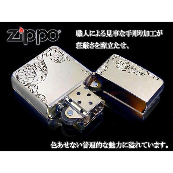 zippo ジッポー ライター レギュラー 手彫り H.C ArabesqueA PTプラチナ あすつく|fnetscom|03
