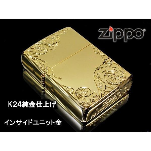 zippo ライター レギュラー 手彫り H.C ArabesqueB K24GP インサイドユニット金|fnetscom|02