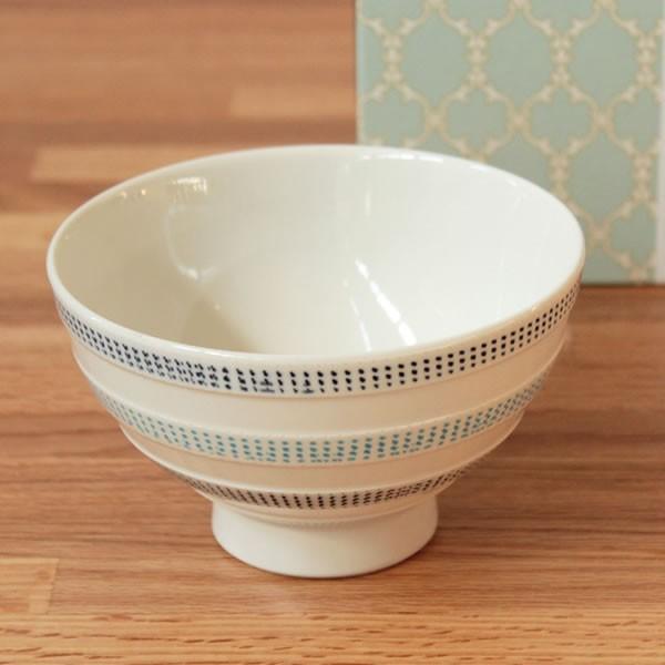 波佐見焼 ニットライン MASU入り碗 (青) 食器 茶碗 磁器 枡 キッチン 日本製 北欧 デザイン かわいい おしゃれ ギフト プレゼント fofoca|fofoca