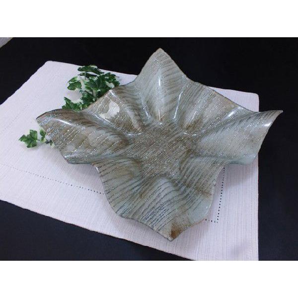 スクエア(四角) ガラストレイ 飾りプレート グレー系 (M002200 GL系)|fontana2014