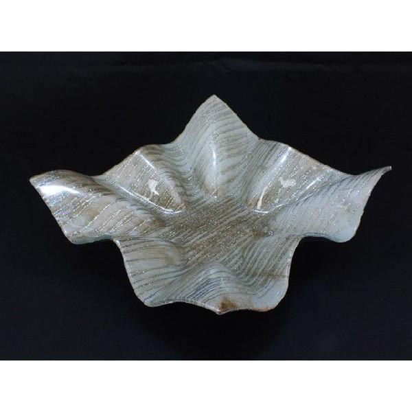 スクエア(四角) ガラストレイ 飾りプレート グレー系 (M002200 GL系)|fontana2014|02