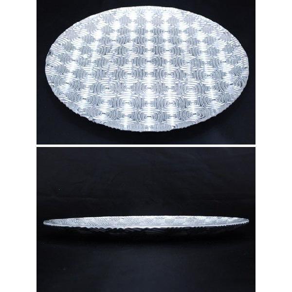 丸型 ガラストレイ 飾りプレート シルバー (L080300 SLV)|fontana2014|02
