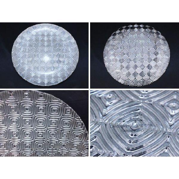 丸型 ガラストレイ 飾りプレート シルバー (L080300 SLV)|fontana2014|03