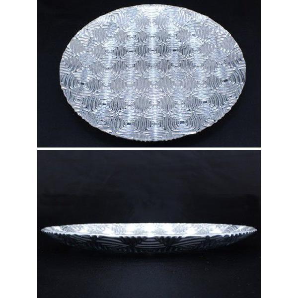 丸型 ガラストレイ 飾りプレート シルバー (L080400 SLV)|fontana2014|02