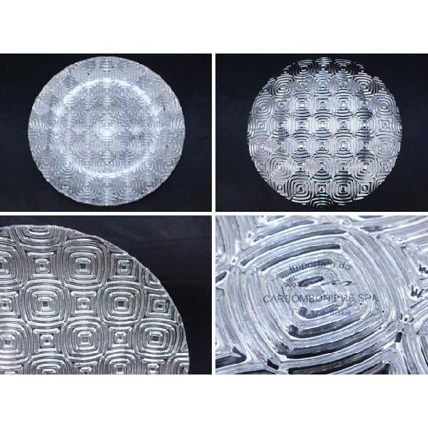 丸型 ガラストレイ 飾りプレート シルバー (L080400 SLV)|fontana2014|03