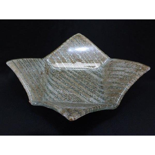 スクエア(四角) ガラストレイ 飾りプレート グレー系 (M001800 GL系) fontana2014 02