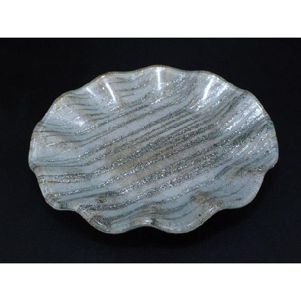 丸型 ガラストレイ 飾りプレート グレー系 (M002000 GL系)|fontana2014|02
