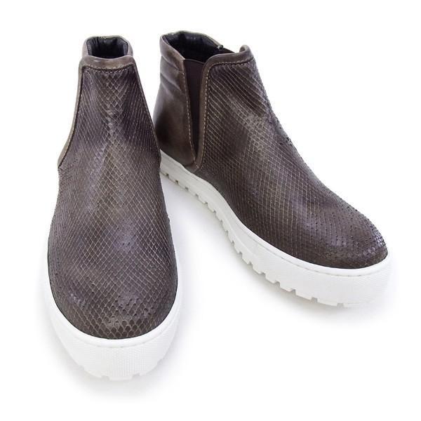 2015秋冬 デザイン マニファトゥーラ design manifattura 靴 レディース NANCY ハイカット スニーカー ブラウン (1312 VIPERA ST.-VINTAGE TDM MORO)|fontana2014|02