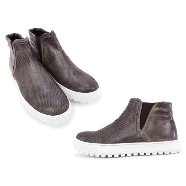 2015秋冬 デザイン マニファトゥーラ design manifattura 靴 レディース NANCY ハイカット スニーカー ブラウン (1312 VIPERA ST.-VINTAGE TDM MORO)|fontana2014|03